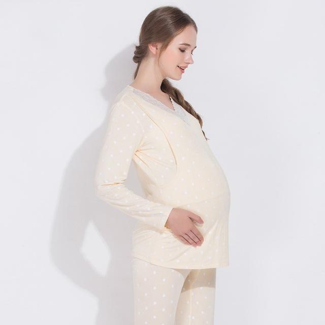Pajamas Maternity sleepwear pajamas maternity clothes for pregnant .