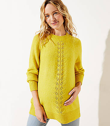 Yellow Maternity Sweaters: Warm & Cozy V-Neck Sweaters | LO
