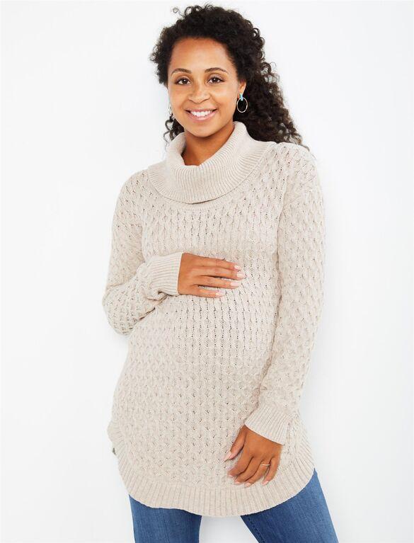 Cozy Honeycomb Knit Maternity Sweater | Motherhood Materni