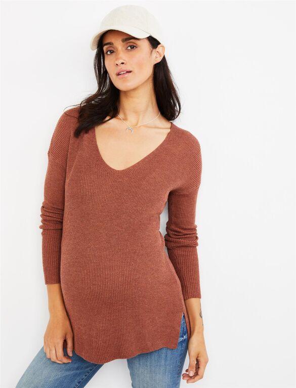 Boyfriend Fit Maternity Sweater | A Pea in the Pod Materni