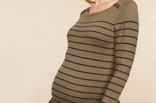 Button Detail Maternity Sweater Tunic | Motherhood Materni