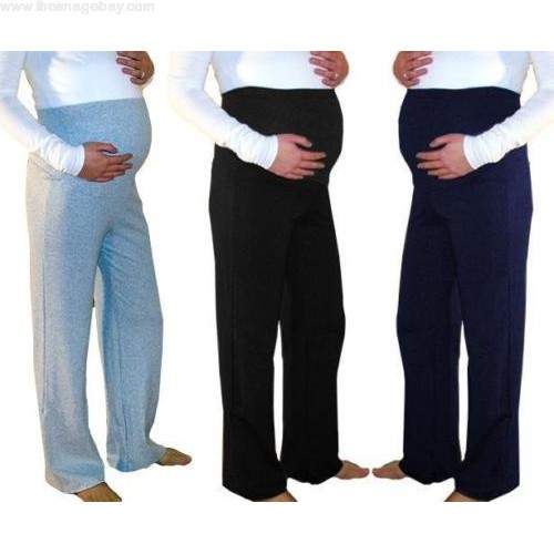 Maternity Trousers Pregnancy Pants Casual Yoga Over Bump Joggers .