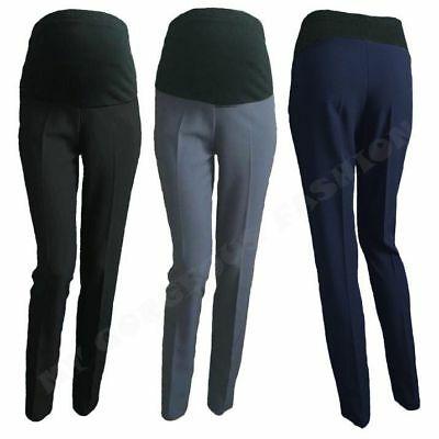 Elegant maternity trousers work office skinny formal pants over 8 .