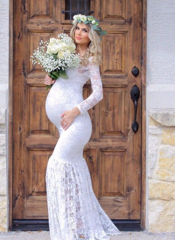 Maternity Wedding Dress/maternity Gown/Mermaids Maternity | Et