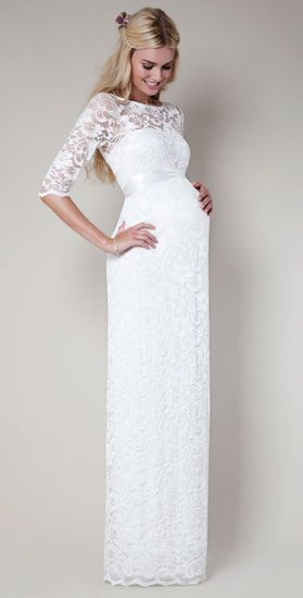 Here Comes the Bride . . . and Baby! 15 Wedding Dresses For Moms .