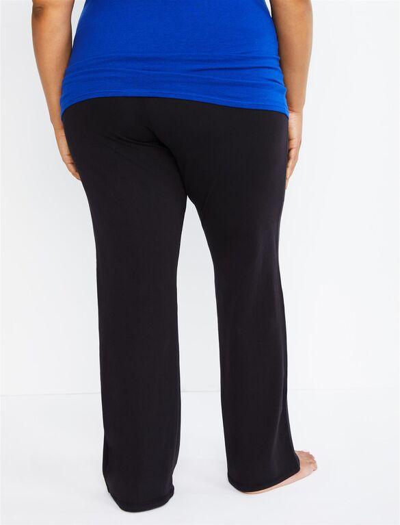 Plus Size Secret Fit Belly Boot Cut Maternity Yoga Pants .