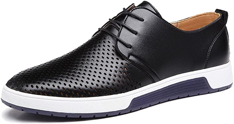 Amazon.com | ZZHAP Men's Casual Oxford Shoes Breathable Flat .