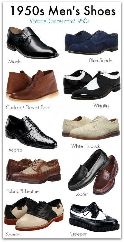Vintage Style 1950s Men's Shoes | 1950s mens shoes, Mens fashion .