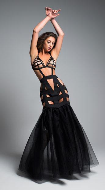 I'm Your Fantasy Mermaid Dress, black tulle dress - Yandy.c