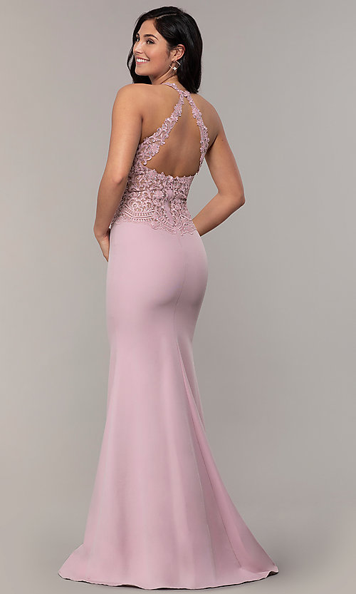 Mermaid Long Prom Dress with Embroidered Bodi