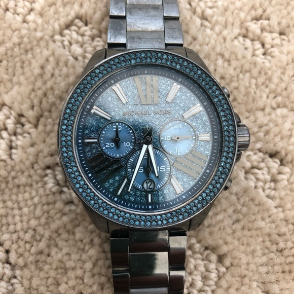 Michael Kors Accessories | Blue Crystal Womens Watch | Poshma