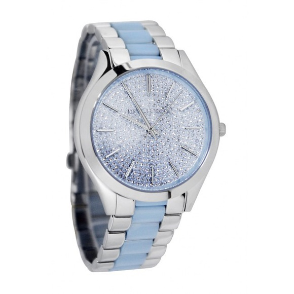 Michael Kors Accessories | Baby Blue Pave Slim Runway Watch | Poshma