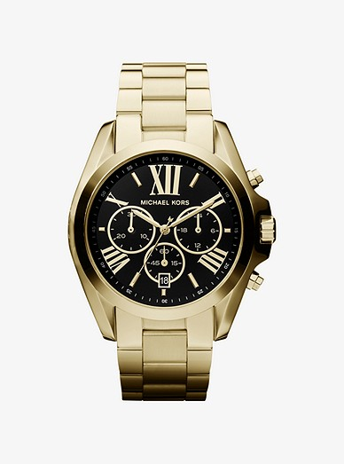 Oversized Bradshaw Gold-tone Watch | Michael Ko