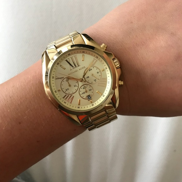 Michael Kors Accessories | Womens Bradshaw Goldtone Watch 43mm .