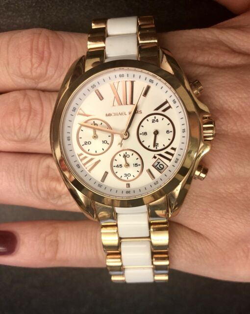 Michael Kors Bradshaw 40 mm Stainless Steel Case Women's White .