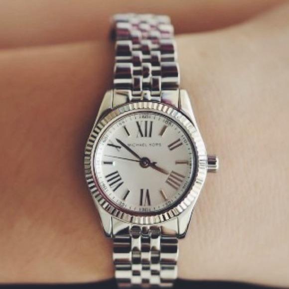 Michael Kors Accessories | Petite Silver Lexington Watch | Poshma