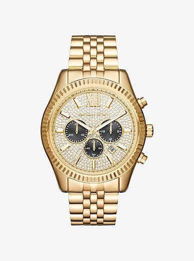 Oversized Lexington Gold-tone Watch | Michael Ko
