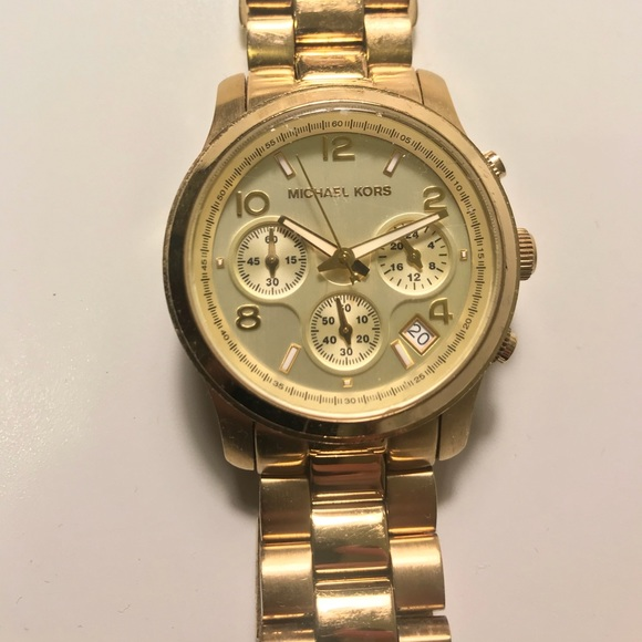 Michael Kors Accessories | Gold Mk5055 Watch | Poshma
