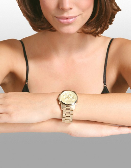 Michael Kors Runway MK5055 Gold Chronograph Watch | AS