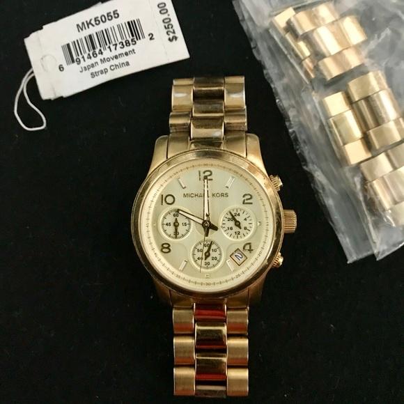 Michael Kors Jewelry | Gold Midsize Runway Mk5055 Watch | Poshma