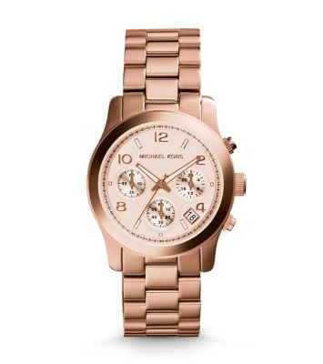 Rose Gold-Tone Stainless Steel Chronograph Runway Watch | Michael Ko