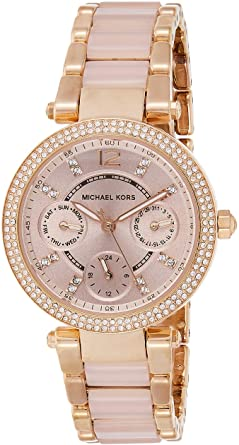 Amazon.com: Michael Kors Women's Mini Parker Two-Tone Watch MK6110 .