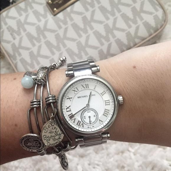 Michael Kors Jewelry | Hp 714 Skylar Crystal Silver Watch | Poshma