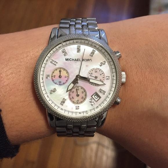 Michael Kors Jewelry | Womens Chronograph Ritz Silver Watch | Poshma