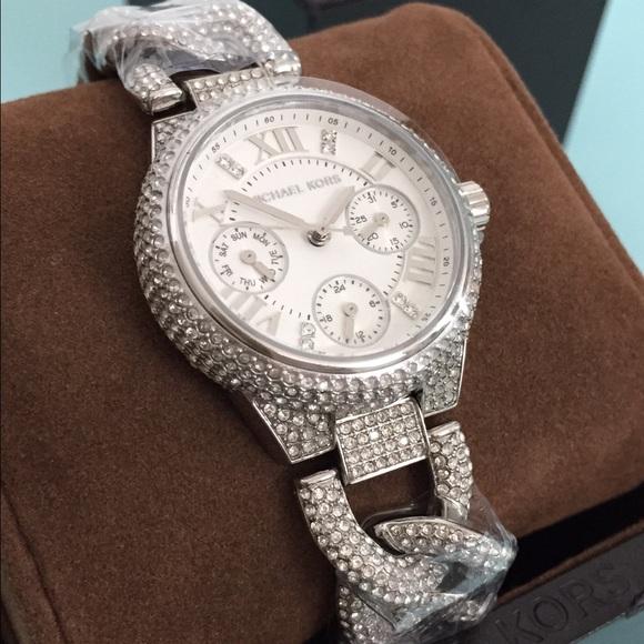 Michael Kors Jewelry | Diamonds Pave Crystals Silver Watch | Poshma