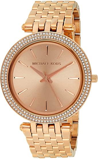 Amazon.com: Michael Kors Women's Darci Rose Gold-Tone Watch MK3192 .