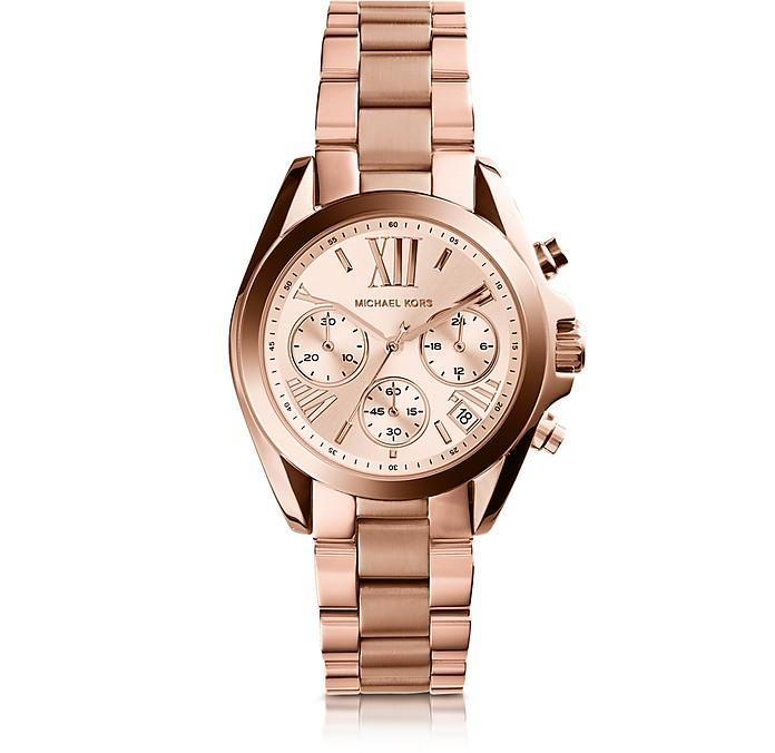 Michael Kors Rose Gold Bradshaw Stainless Steel Women's Watch at .