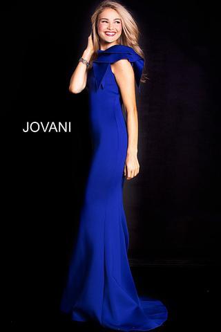Jovani 32602 One shoulder with ruffle mermaid prom dress – Glass .