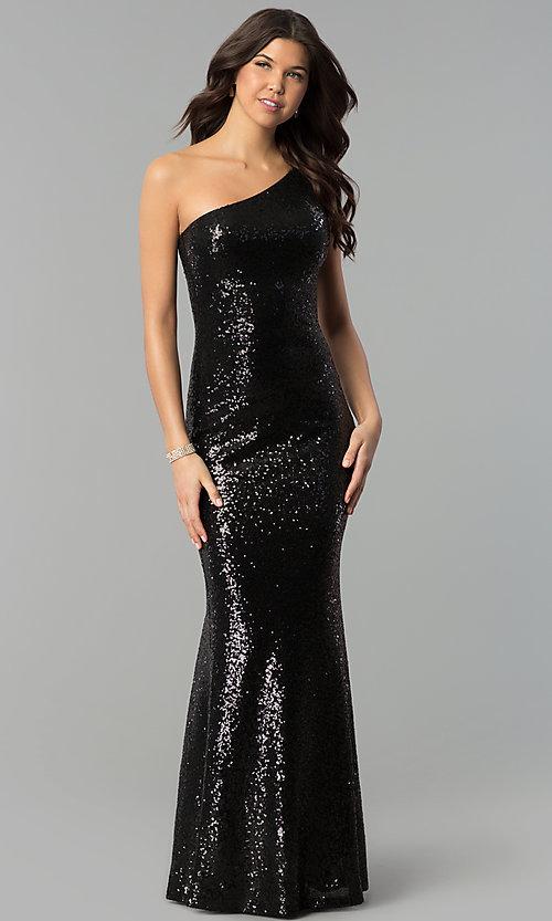 Mermaid One-Shoulder Sequin Long Prom Dress - PromGi