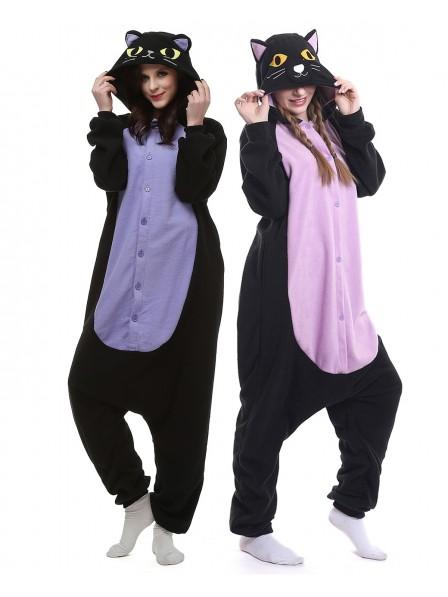 Adult Unisex Cat Onesie Pajamas for Women and M