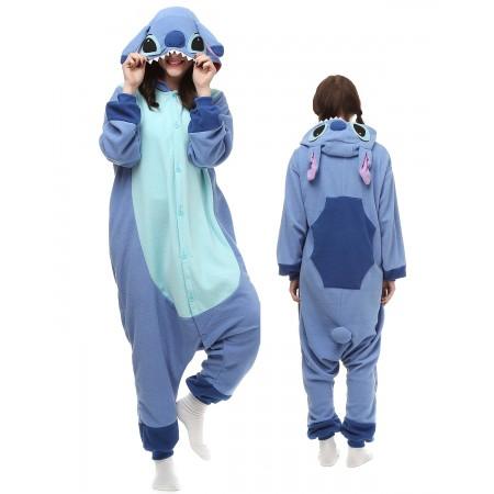 Blue Stitch Kigurumi Onesie Pajamas Animal Costumes For Adu