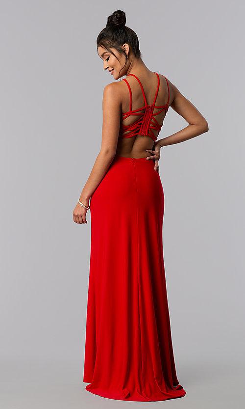 Long Strappy Open-Back Prom Dress - PromGi