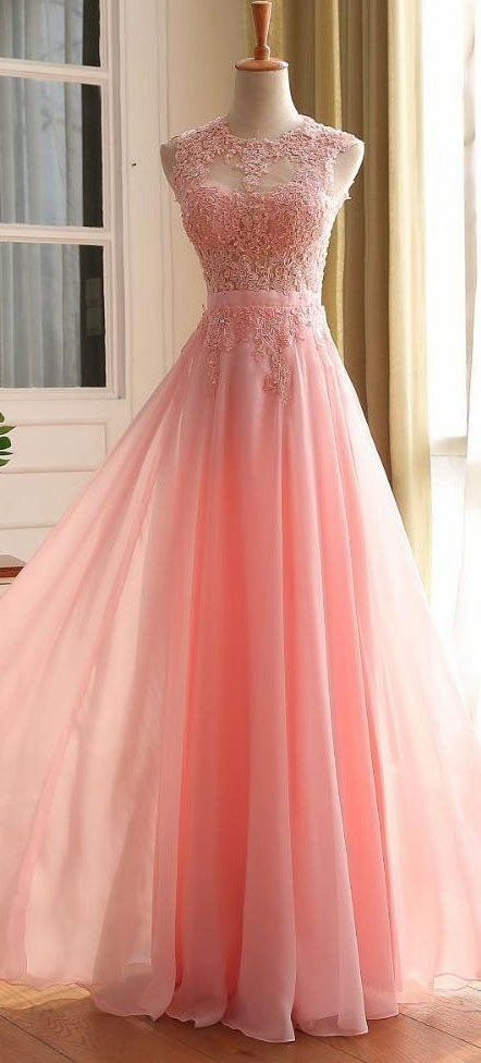 Fashionable Pink Prom Dress with Heart Shape Back, Prom Dresses .