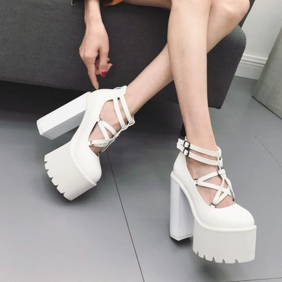 Gdgydh 2019 Fashion Women Pumps High Heels Zipper Rubber Sole .
