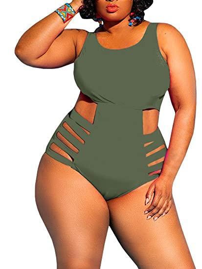 Yskkt Womens One Piece Swimsuits Plus Size Swimwear Sexy High .