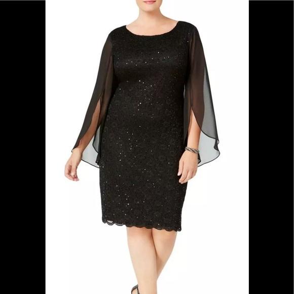 connected apparel Dresses | Formal Dress Plus Size 14w Short Black .