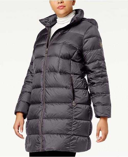Michael Kors Plus Size Packable Down Puffer Coat & Reviews - Coats .