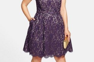 Plus Size Cocktail Dress - Plus Size Holiday Party Dress - Belted .