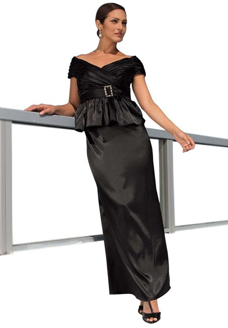 Cute plus size evening dresses with sleeves of 20