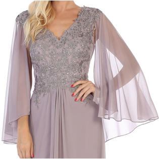 Designer MOTHER OF THE BRIDE FORMAL EVENING GOWN PLUS SIZE CHURCH .