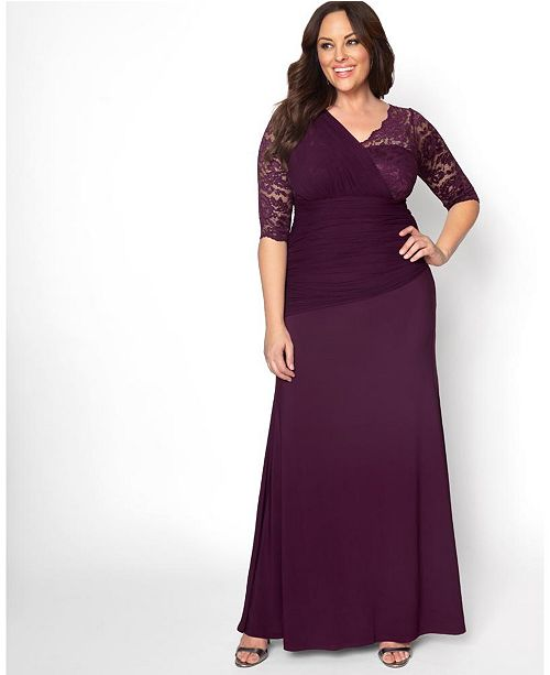 Kiyonna Women's Plus Size Soiree Evening Gown & Reviews - Dresses .