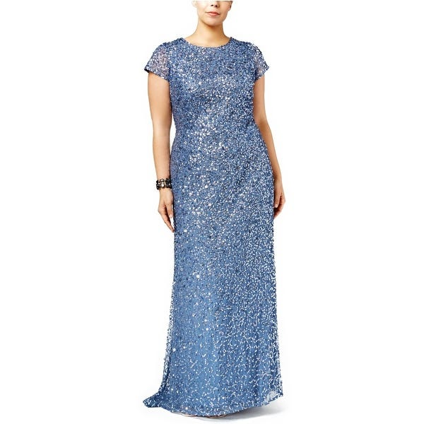 Shop Adrianna Papell Plus Size Embellished Evening Gown Dress .