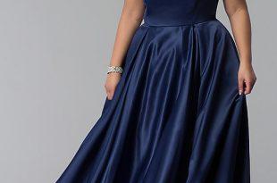 Long Strapless Corset Plus-Size Prom Dre