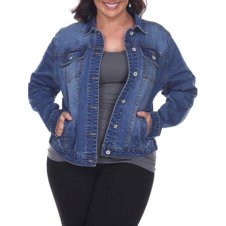 White Mark - Women's Plus Size Denim Jacket - Walmart.c