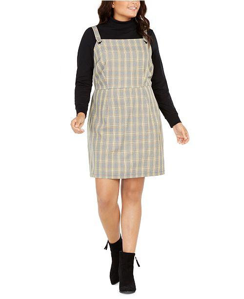 Be Bop Trendy Plus Size Plaid Jumper Dress & Reviews - Trendy .