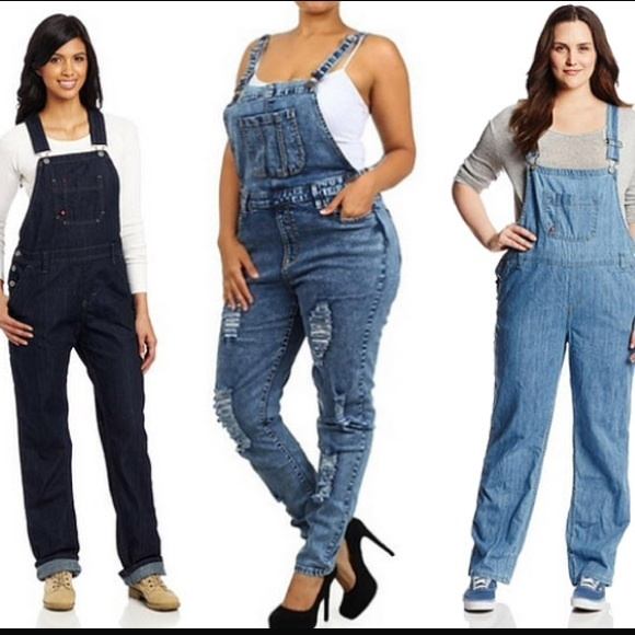 Jeans   Host Pick Sexy Denim Overalls Jumper Plus Size   Poshma